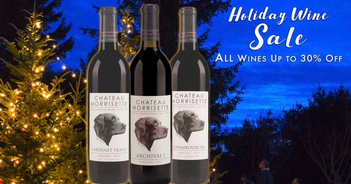 Chateau Morrisette Holiday Wine Sale and Holiday Gift Ideas