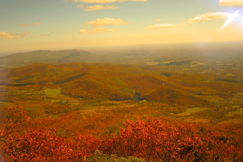 Spectacular long range vistas all along the Blue Ridge Parkway