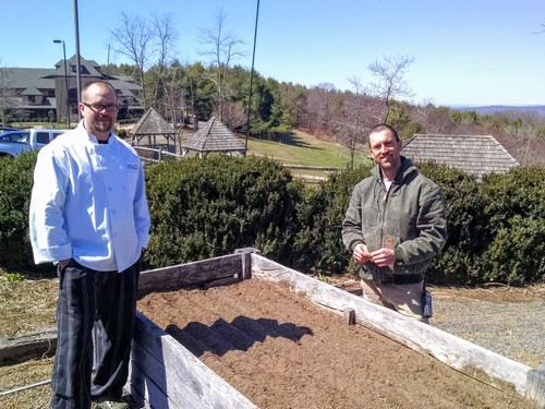 Chef Cooper Brunk and Head Gardener Matt Sanders