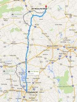 Chateau Morrisette Visit Directions From Charlotte NC - Charlotte south carolina map