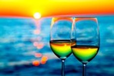 The Black Dog Beach Music Festival 2017 wine glass sunrise