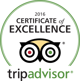 TripAdvisor Certificate of Excellence 2016 for Chateau Morrisette Winery