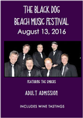 8/13 The Black Dog Beach Music Festival Adult Ticket